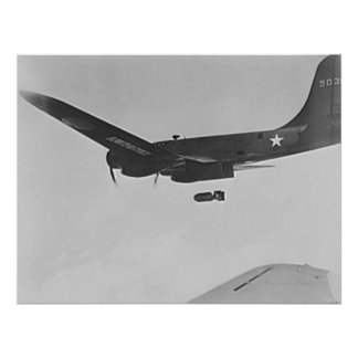 B-17 Flying Fortress Bomber Poster
