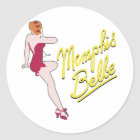 B-17 Flying Fortress Memphis Belle Classic Round Sticker