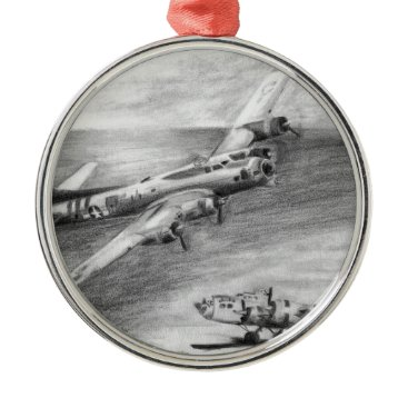 (B-17) Flying Fortress Metal Ornament