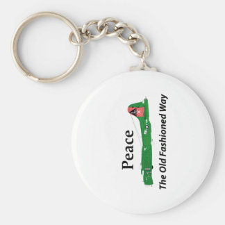 B-17 Flying Fortress - Peace The Old Fashioned Way Keychain