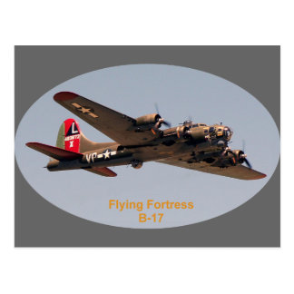 B-17 Flying Fortress Postcard