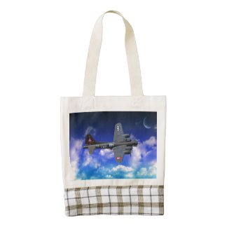B-17 Flying Fortress Zazzle HEART Tote Bag