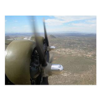 B-17 Flying over Arizona Postcard