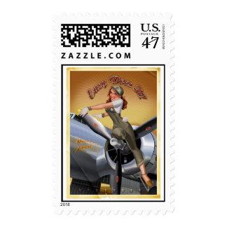 B-17 Girl Postage