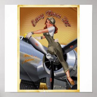 B-17 Girl Poster