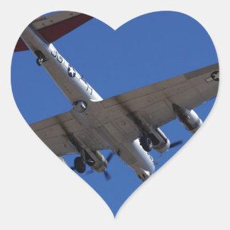 B-17 HEART STICKER