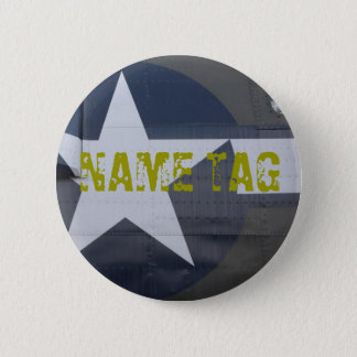 B-17 Name Tag Button