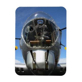 B-17 Nose Bomber Turret Seat Photo Rectangular Photo Magnet