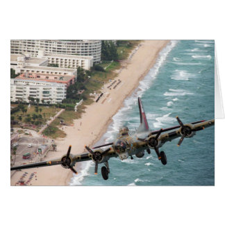 B-17 Off Florida Coast note card