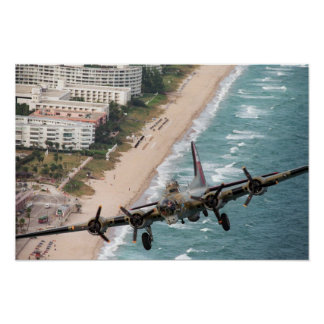 B-17 Off Florida Coast Poster