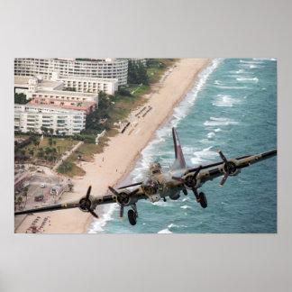 B-17 Off Florida Coast Print