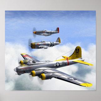 B-17 P-47 P-51 POSTER