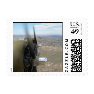 B-17 Props over Arizona Postage Stamp