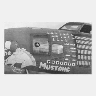 B-17f Flying Fortress WWII Bomber Rectangular Sticker