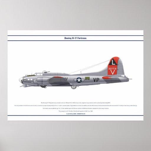 B-17G los E.E.U.U. 533BS 1 Poster
