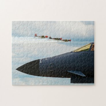 B-1 Bomber and WWII Fighters Jigsaw Puzzle