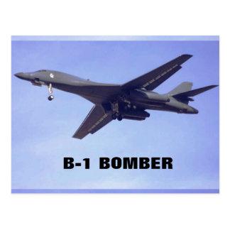 B-1 BOMBER POSTCARD