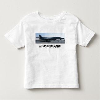 b-1 imagen, el avión de mi papá playera de bebé