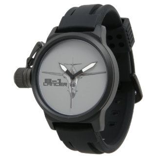 B-1 Lancer Crown Protector Black Rubber Watch