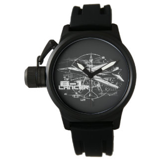 B-1 Lancer Crown Protector Black Rubber Watches