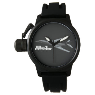 B-1 Lancer Crown Protector Black Rubber Wrist Watches