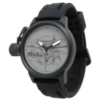 B-1 Lancer Crown Protector Black Rubber Wristwatches