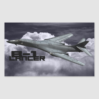 B-1 Lancer Rectangle Stickers