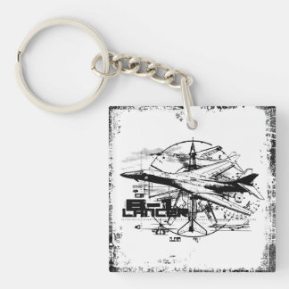 B-1 Lancer Square (double-sided) Keychain