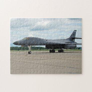 B-1B Lancer Bomber on Ground Jigsaw Puzzle
