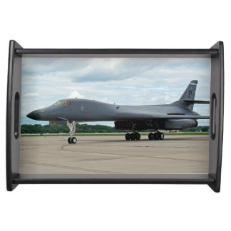 B-1B Lancer Bomber on Ground Serving Tray