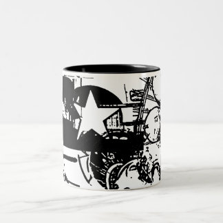 B-24 Black and White Two-Tone Coffee Mug