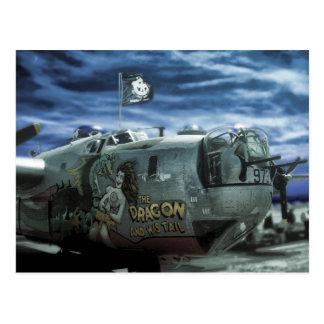 B-24 Dragon Plane Postcard