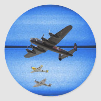 B-24 mustang blue moon formation classic round sticker