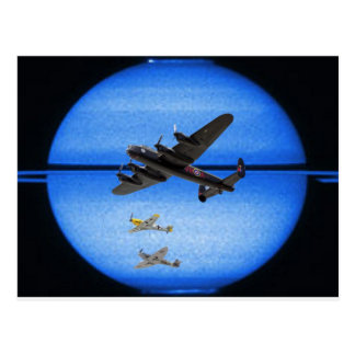 B-24 mustang blue moon formation postcard