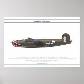 B-24J los E.E.U.U. 90BG 1 Póster