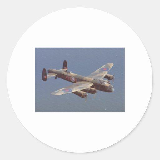 B-25 Bomber Aircraft Classic Round Sticker