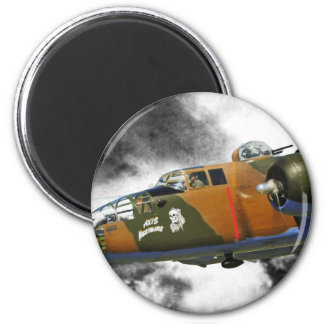 B-25 Bomber 'axis nitemare' 2 Inch Round Magnet