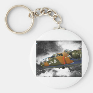 B-25 Bomber 'axis nitemare' Basic Round Button Keychain