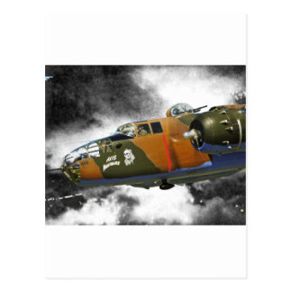 B-25 Bomber 'axis nitemare' Postcard