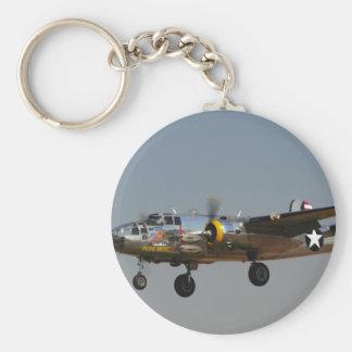 B-25 BOMBER BASIC ROUND BUTTON KEYCHAIN