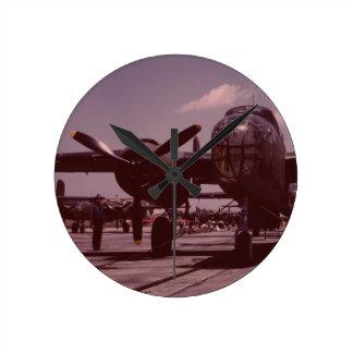 B-25 Bomber Round Wall Clock