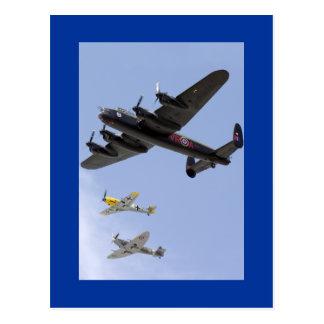 B-25 Liberator P-51 Mustang Postcard