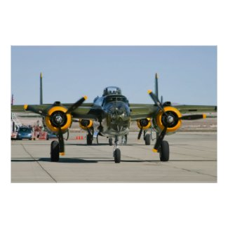 B-25 Mitchell Head On Posters