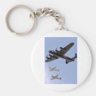 B-25 mustango del libertador P-51 Llavero Redondo Tipo Pin