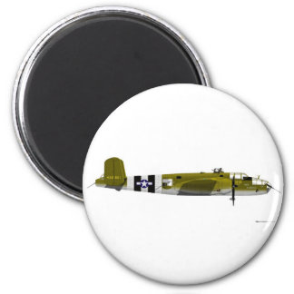 B-25 norteamericano Mitchell Imán Redondo 5 Cm