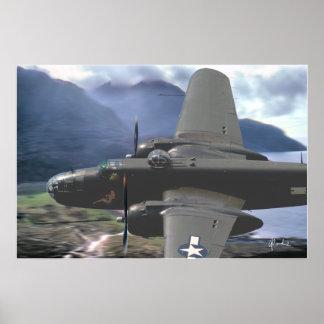 """B-25 Valley Pass"" Print"