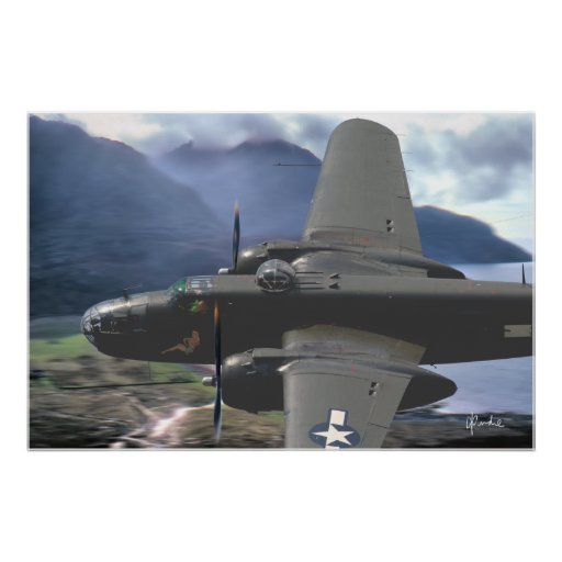 """B-25 Valley Pass"" Poster"