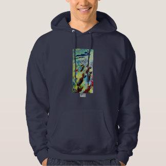 B-29, Fine Art Hooded Sweatshirt, in Navy Blue Hooded Sweatshirt