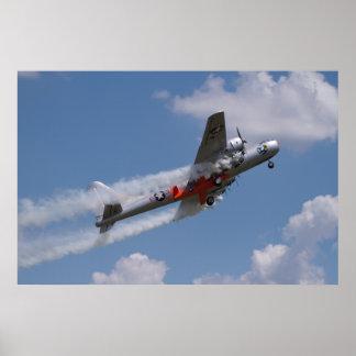 B-29 saca llevar la Bell X-1 Póster