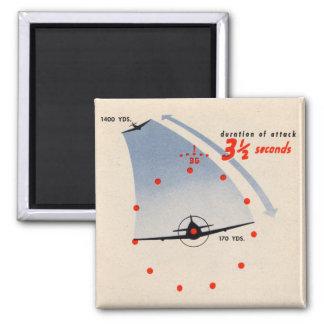 B-29 segundos del artillero 3 el 1/2 a atacar imán cuadrado